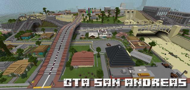 Скачать карту GTA: San Andreas для Minecraft PE на Андроид