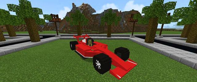 Мод на машину Ferrari для Андроид - Майнкрафт ПЕ 1.16