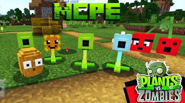 Мод растения против зомби для Майнкрафт ПЕ 1.16 на Андроид