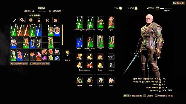 Оружие в игре Ведьмак 3 | Мечи