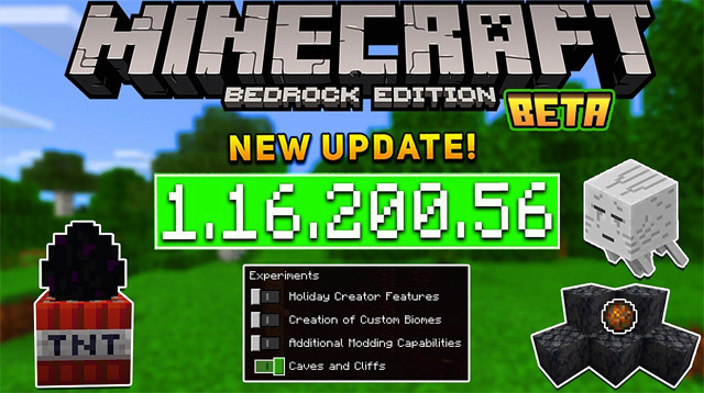 Minecraft PE 1.16.200.56 для Android, Xbox One, Windows 10