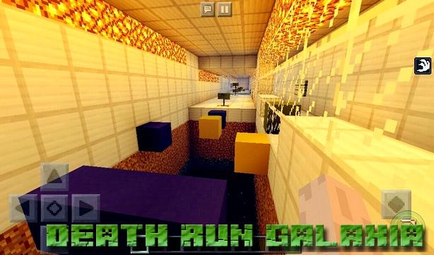 Карта Death Run Galaxia на Майнкрафт PE 1.2.13, 1.2.10, Windows 10