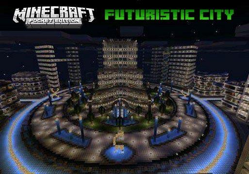 Карта для Майнкрафт | MCPE 1.16 | Футуристический город