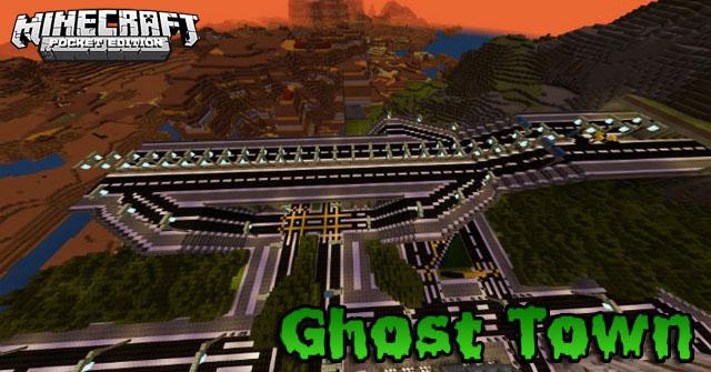 Карта для Майнкрафт ПЕ 1.16.201, 1.16.40 | Город призрак
