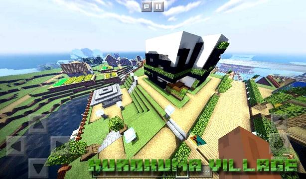 Карта Kurokuma Village на Майнкрафт PE, Windows 10