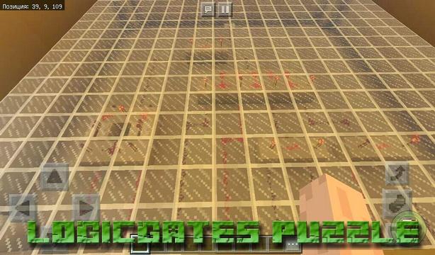 Карта Logicgates Puzzle на Майнкрафт PE, Windows 10