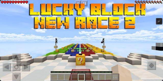 Майнкрафт карта Lucky block Race 2 на Андроид