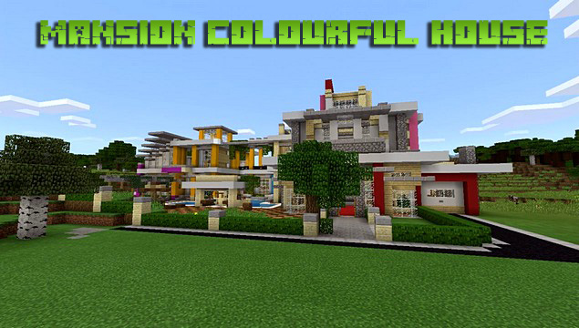 Карта на Андроид Mansion colourful для Minecraft PE