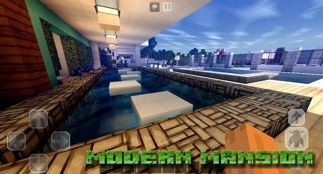 Карта Modern Mansion на Minecraft PE, Windows 10
