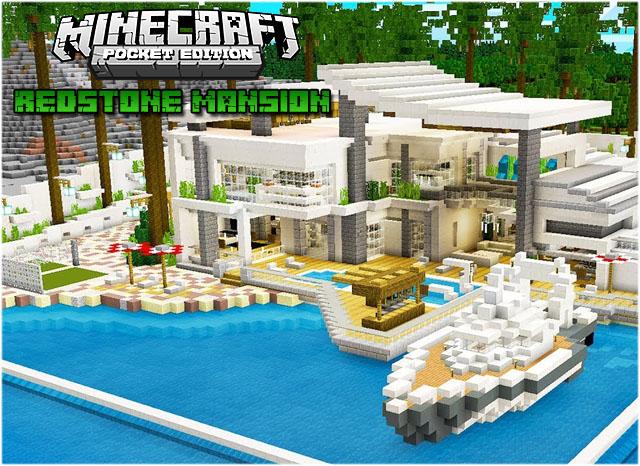 Карта Redstone Mansion для Майнкрафт ПЕ 1.16.40, 1.16.201