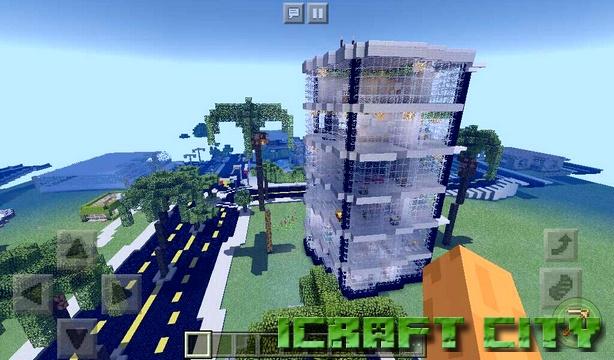 Карта iCraft City на Майнкрафт PE 1.2.13, 1.2.10, Windows 10