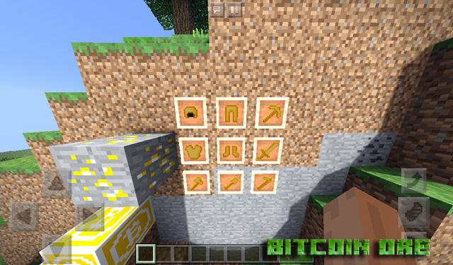 Мод Bitcoin Ore на Майнкрафт PE 1.2.13.10, 1.2.10, Windows 10