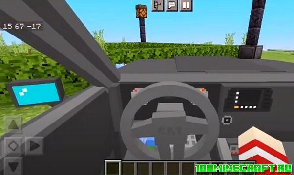 Мод на машину SRT Dodge Demon Minecraft PE 1.16
