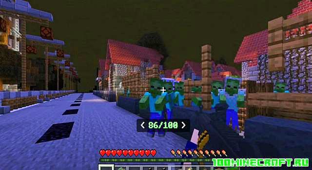 Мод Зомби апокалипсис для Майнкрафт ПЕ 1.16