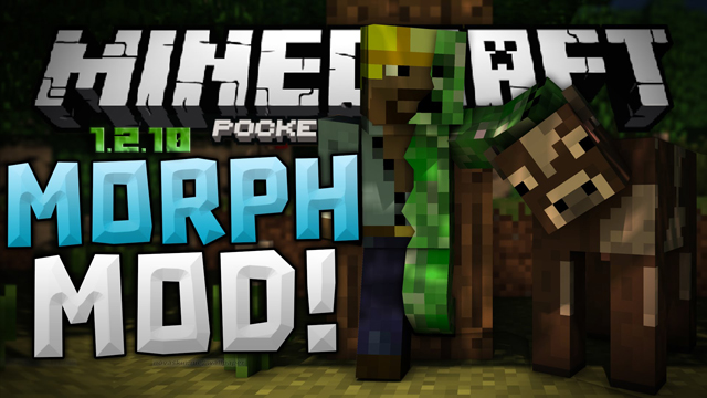Скачать Morph мод на Minecraft PE 1.2.x бесплатно
