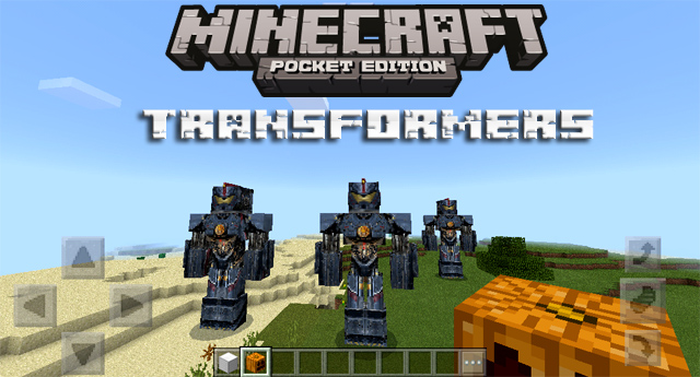Мод Трансформеры на Minecraft PE 1.2.10, Windows 10
