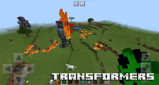 Мод Трансформеры на Minecraft PE 1.2.10, Windows 10