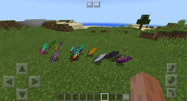 Мод Weapons Sword на Майнкрафт ПЕ 1.2.10 / Windows 10