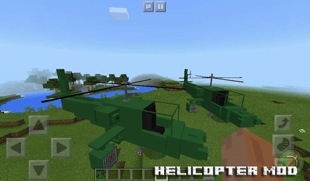Мод Helicopter для Minecraft PE 1.2.10