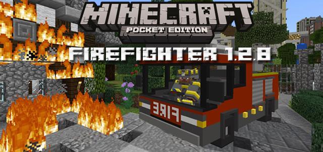 Скачать MCPE мод Firefighter 1.2.8 на Андроид бесплатно