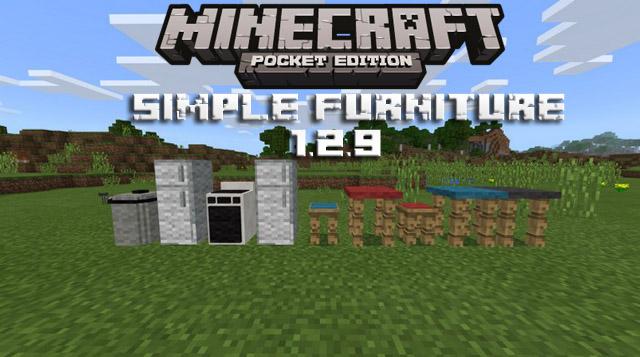 Скачать мод Simple Furniture на Андроид для Minecraft PE 1.2.9
