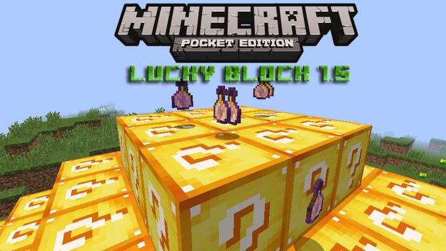 Мод Lucky Block на Майнкрафт PE 1.5, Windows 10