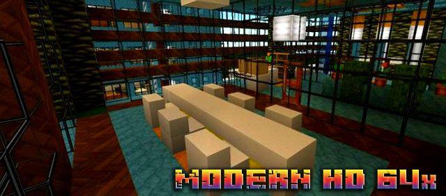 Скачать на телефон текстуры Modern HD для MCPE 1.11