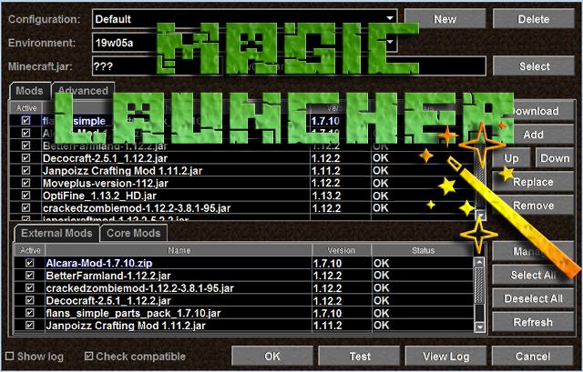 Скачать магический лаунчер для Майнкрафт 1.13.2, 1.12.2, 1.11.2