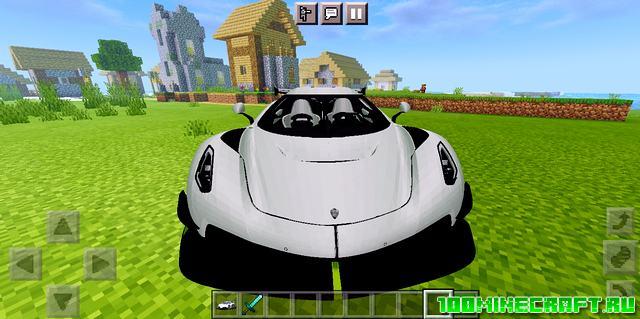 Мод на спортивную машину для Майнкрафт ПЕ 1.16