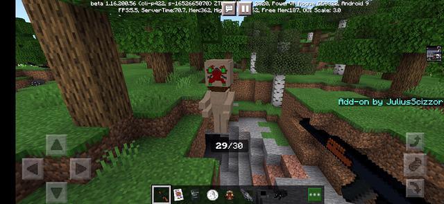 Мод SCP: JS Edition на оружие для Майнкрафт ПЕ 1.16