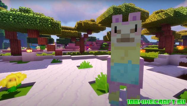 Текстуры Kawaii World для Minecraft Bedrock 1.16 | MCPE