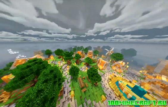 Шейдеры Haptic для Minecraft PE 1.16