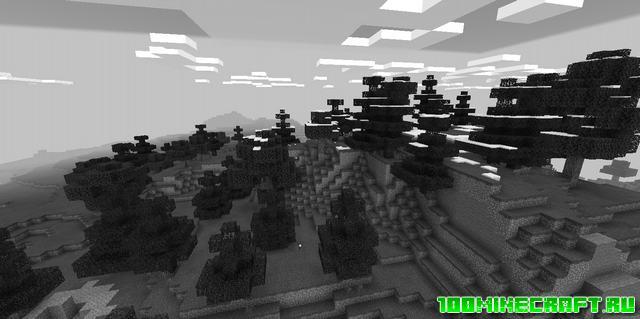 Shaders мод для Minecraft PE 1.17, 1.16 | Monochrome