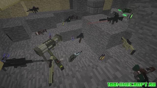 Майнкрафт Зомби Крафт с модами на оружие | 1.12.2