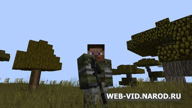 Скачать Майнкрафт 1.7.10 с модами Fallout на оружие