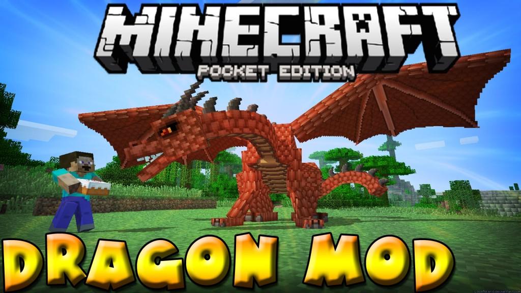 Скачать мод на дракона для MCPE 0.13.1