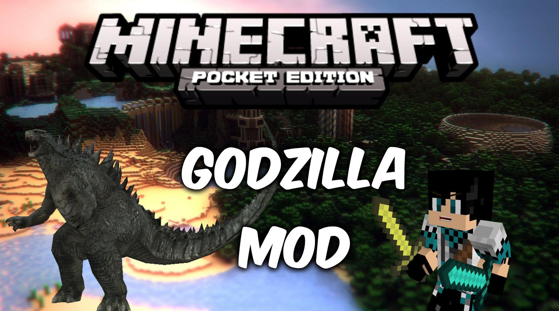 Godzilla мод для Майнкрафт PE 1.0.7