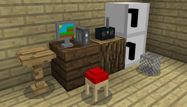 Мод на мебель для Майнкрафт - MCPE 1.0.8
