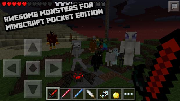 Pocket mobs / Скачать мод на Андроид для Майнкрафт PE 0.9.5
