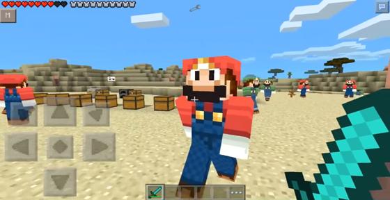 Скачать мод Super Mario для Майнкрафт 0.9.5 на телефон Андроид