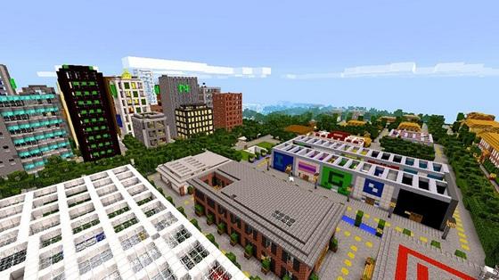 Скачать Майнкрафт карту для телефона - Bloxten City 0.9.5