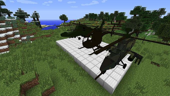 как сделать вертолёт в майнкрафте без модов #1