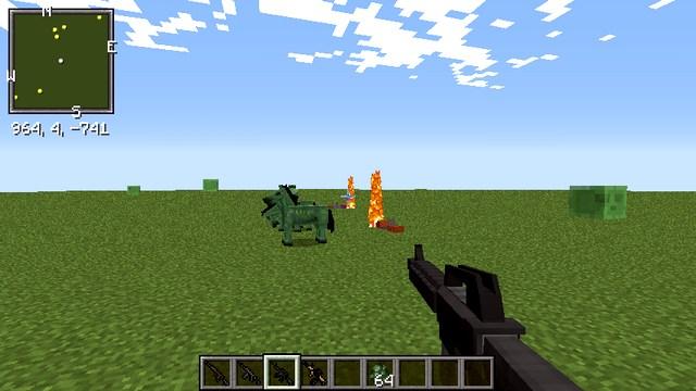 Сборка Майнкрафт с модами на оружие и танки