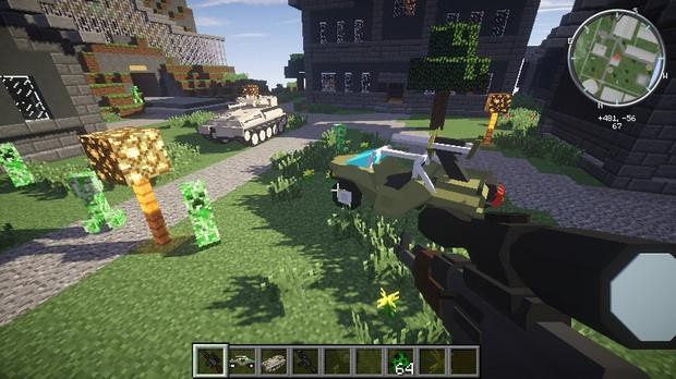 лаунчер майнкрафт с модами на оружие и машины #1