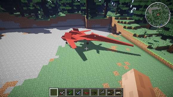 Мод на самолеты для Майнкрафт 1.7.10