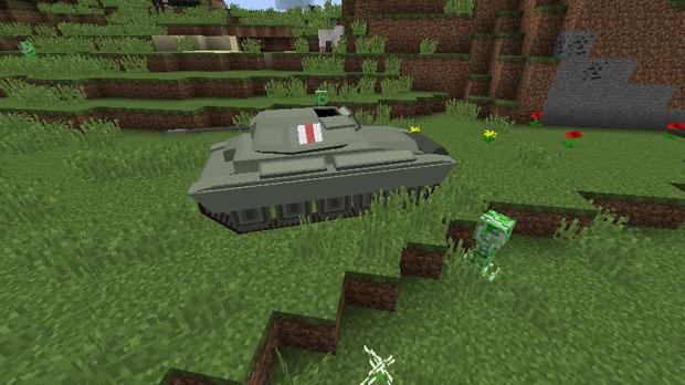 Cкачать Майнкрафт 1.8 с модами на оружие, машинами и танками