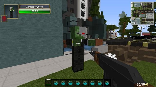 Майнкрафт с модами (Зомби сборка) на оружие и машины