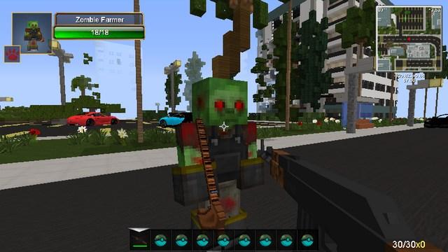 Майнкрафт с модами Optifine HD и оружием