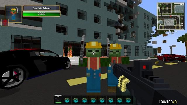 Майнкрафт с модом на машины и оружие андромд