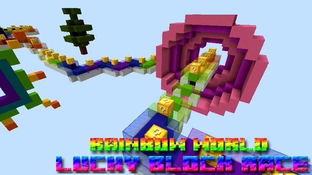 Карта паркур Lucky Block Race на Майнкрафт 1.12.2